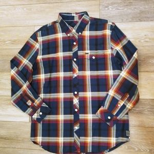 Hurley plaid flannel button up